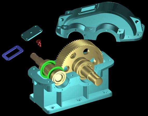 齿轮减速器拆装图